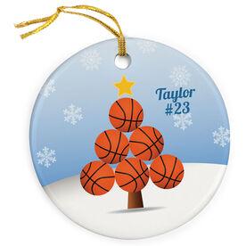 Basketball Porcelain Ornament Christmas Tree