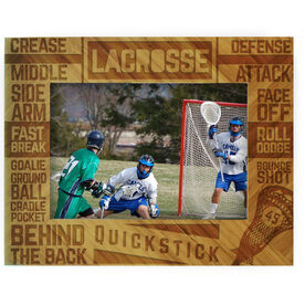 Guys Lacrosse Bamboo Engraved Picture Frame Lacrosse Words
