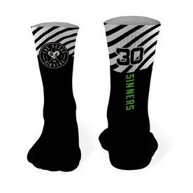 Mid-Calf Socks - Las Vegas Sinners Logo (Black)