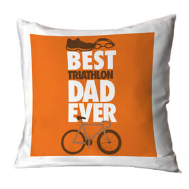 Triathlon Throw Pillow Best Dad Ever