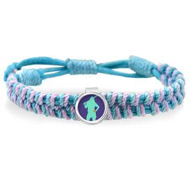 Softball Girl Adjustable Woven SportSNAPS Bracelet