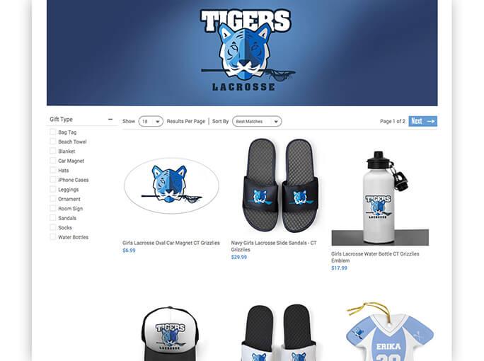 Custom Team Store Snapshot