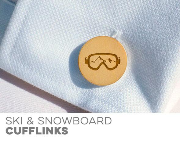 Skiing & Snowboarding Cufflinks