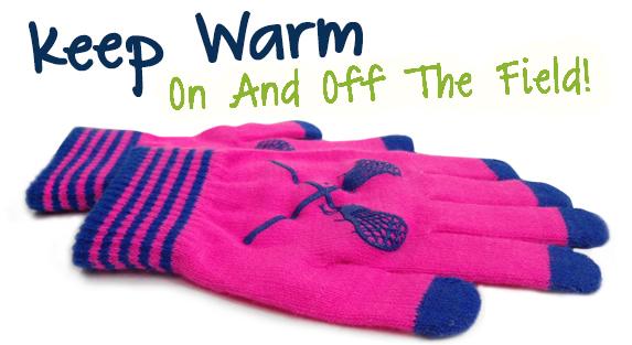 Girls Lacrosse Touchscreen Gloves