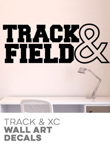 Track & Cross Country Wall Decals