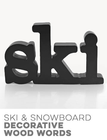 Ski Decorative Wood Words