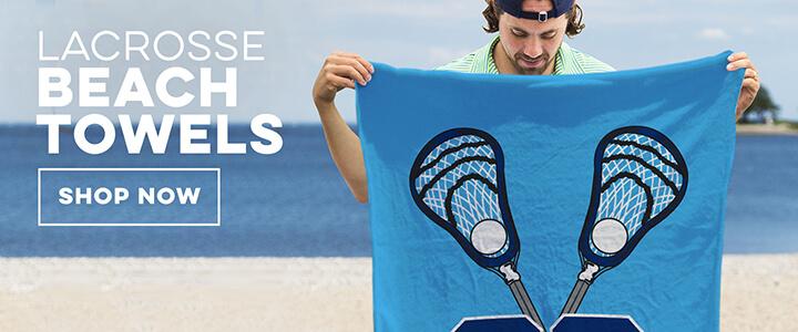 Guys Lacrosse Beach Towels