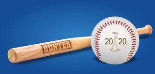 Custom Baseballs and Mini Bats