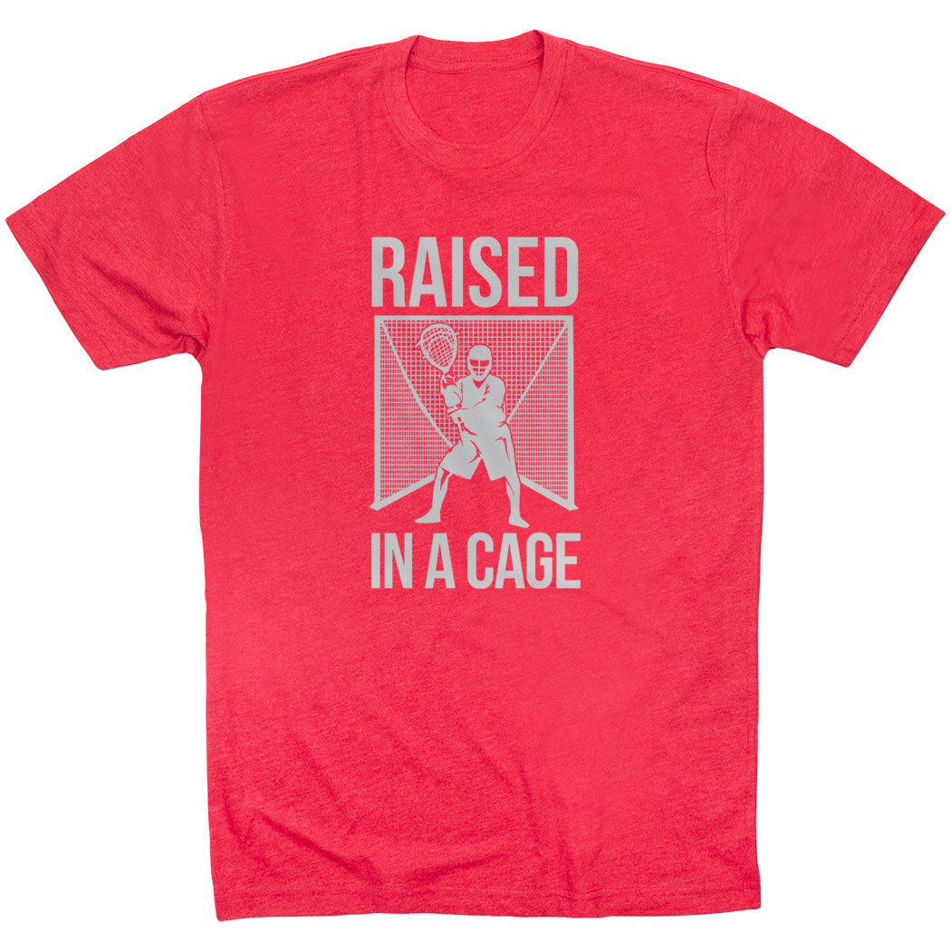 Lacrosse Short Sleeve T-Shirt - Raised In a Cage