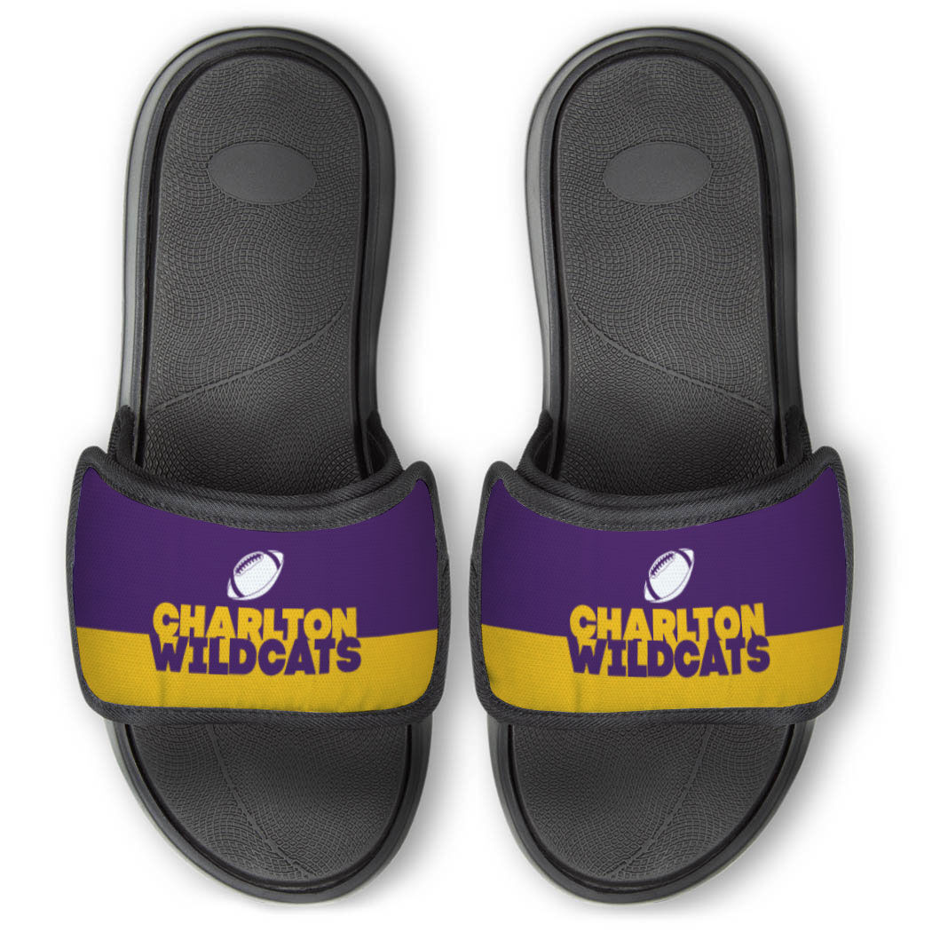 Football Repwell® Slide Sandals - Team Name Colorblock