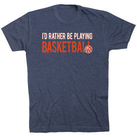 One Day Ill Play Basketball Just Like My Grandpa Toddler//Kids Short Sleeve T-Shirt