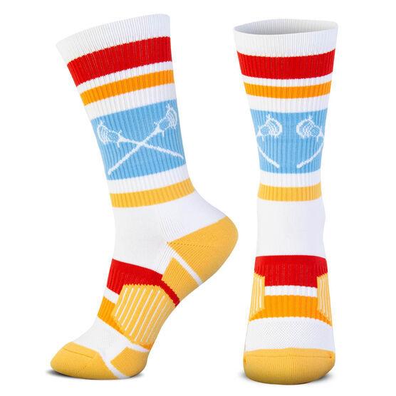 Guys Lacrosse Woven Mid-Calf Socks - Laguna
