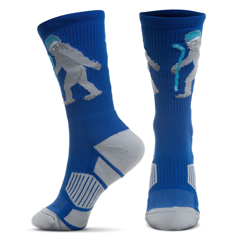 Hockey Woven Mid-Calf Socks - Yeti