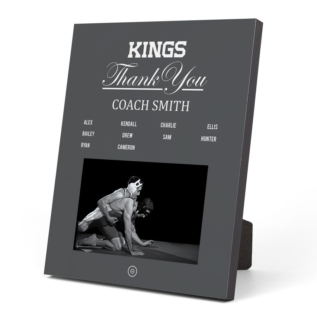 Wrestling Photo Frame - Thank You Coach Roster