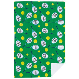 Tennis Premium Blanket - Racket And Ball Pattern