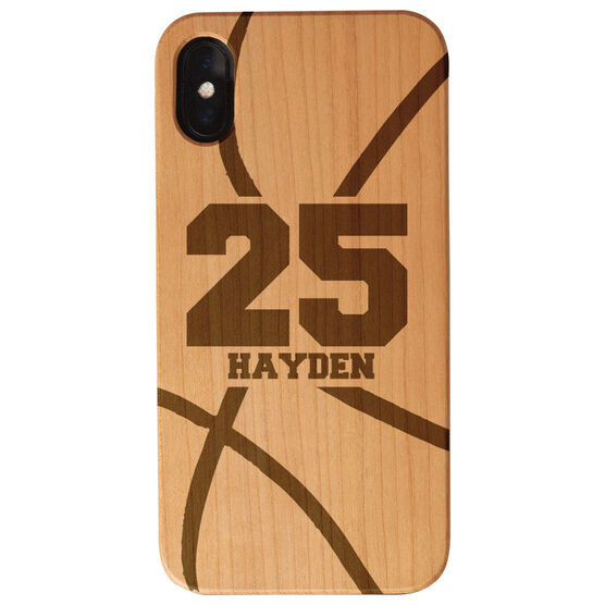 Basketball Engraved Wood IPhone® Case - Personalized Basketball