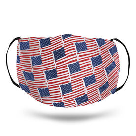 Baseball Face Mask - American Flag Bats Pattern