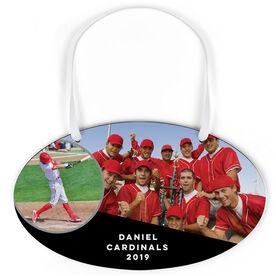 Baseball Oval Sign - Team and Player Photo