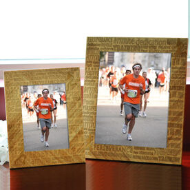 Bamboo Engraved Picture Frame Inspiration Words Male
