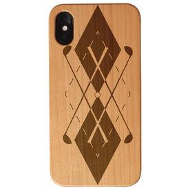 Golf Engraved Wood IPhone® Case - Argyle