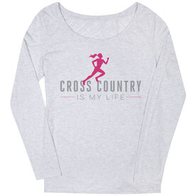 Cross Country Women's Scoop Neck Long Sleeve Tee My Life (Female)