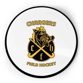 Field Hockey Circle Plaque - Custom Logo