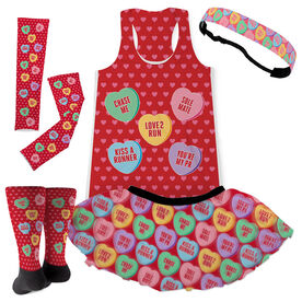 Candy Hearts Running Outfit