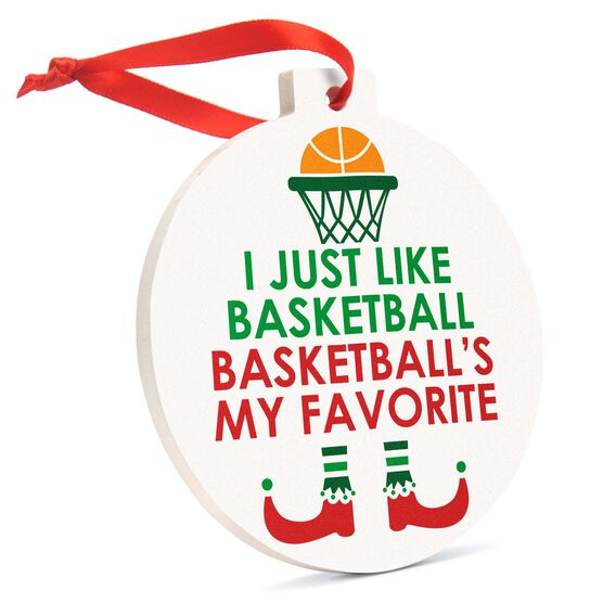 Basketball Round Ceramic Ornament - Basketball's My Favorite