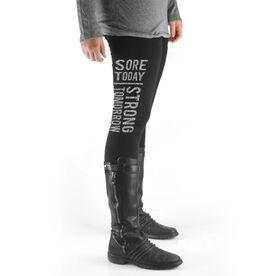 Cross Training High Print Leggings Sore Today Strong Tomorrow