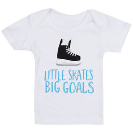 Hockey Baby T-Shirt - Little Skates Big Goals