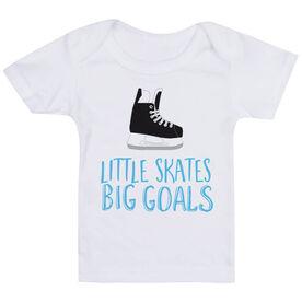 Hockey Baby T-Shirt - Little Skates Big Goals