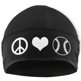 Beanie Performance Hat - Peace Love Softball (White Lettering)