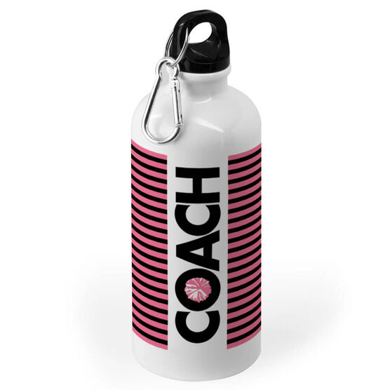 Cheerleading 20 oz. Stainless Steel Water Bottle - Coach With Roster