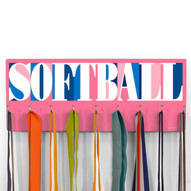 Softball Hooked on Medals Hanger - Softball Mosaic