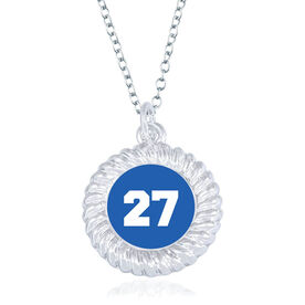 Personalized Braided Circle Necklace - Your Number