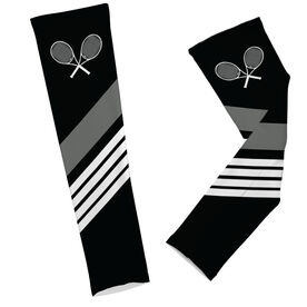 Tennis Rackets with Stripes Arm Sleeves