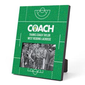 Girls Lacrosse Photo Frame - Coach (Field)