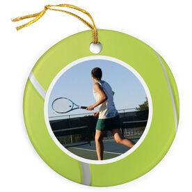 Tennis Porcelain Ornament Custom Photo In Tennis Ball