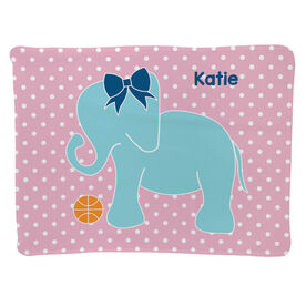 Basketball Baby Blanket - Basketball Elephant With Bow