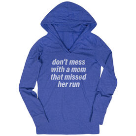 Women's Running Lightweight Performance Hoodie - Don't Mess With A Mom