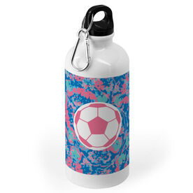 Soccer 20 oz. Stainless Steel Water Bottle - Floral