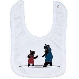 Wrestling Baby Bib - Bears
