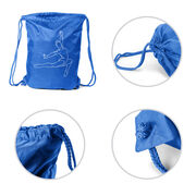 Gymnastics Sport Pack Cinch Sack - Gymnast Sketch
