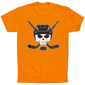 Hockey Short Sleeve Tee - Hockey Helmet Skull