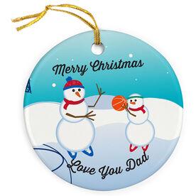 Basketball Porcelain Ornament Snowmen Challenge Dad