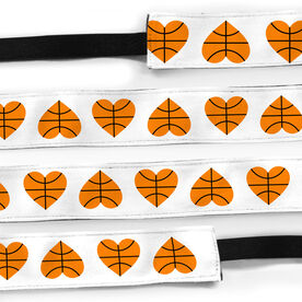 Basketball Julibands No-Slip Headbands - Basketball Hearts
