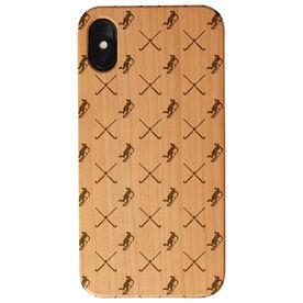 Field Hockey Engraved Wood IPhone® Case - Field Hockey Pattern