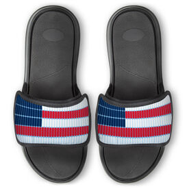 Swimming Repwell® Slide Sandals - Swim Lane American Flag