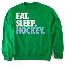 Hockey Crew Neck Sweatshirt Eat. Sleep. Hockey.
