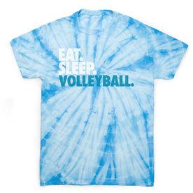 Volleyball Short Sleeve T-Shirt - Eat. Sleep. Volleyball Tie Dye